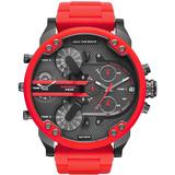 Relógio Diesel Dz7370 Mr. Daddy 2.0 Original Vermelho 57mm
