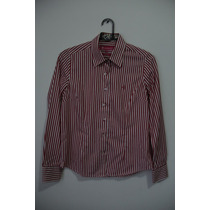 Camisa Dudalina Feminina Listrada Vermelho/branco 38