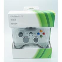 Joystick Com Fio Controle Para Xbox 360 E Pc - Branca