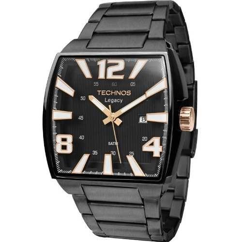 128cebb8a86 Comprar Relógio Technos Masculino Quadrado Legacy Preto 2315abf 1p - Apenas  R  691