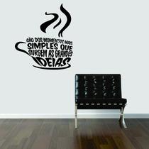 Adesivo Decorativo De Parede Cozinha Cafe Coffee Frases