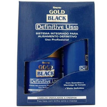 Kit Escova Definitiva Gold Black Liss Amend
