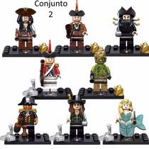 8 Bonecos Piratas Do Caribe Compatível Lego - Minifigures