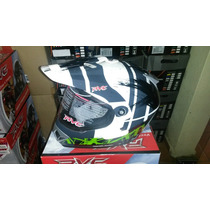 Capacete Rvc White Dakar Black Green Cross