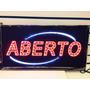 Placa De Led Letreiro Decorativo Colorido (aberto) - 110v