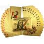 Kit 2 Baralhos Dourado Ouro 24k Folheado Poker Truco