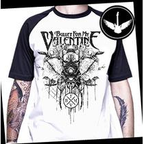 Camiseta Bullet For My Valentine Raglan Camisa Banda Rock