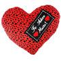 Almofada Coração De Pelúcia Grande Te Adoro Muito 40x50cm