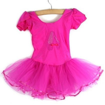 Collant Ballet Infantil Importado Com Saia Tutu - Tam 6-8