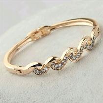 Pulseira Feminina Bracelete Banho Ouro 18k - Frete Gratis
