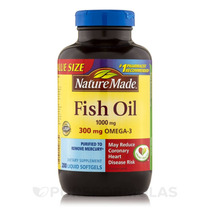 Fish Oil 1000 Mg Omega-3 300 Mg - 200 Cápsulas Por Natureza