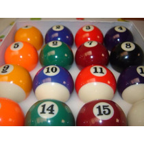 Bolas De Bilhar Snooker Sinuca 50mm 16 Peças Nova