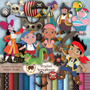6 Kits Scrapbook Digital Jake Piratas Terra Do Nunca Brinde