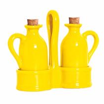 Galheteiro Em Cerâmica Standard Amarelo Lima 2x1
