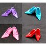 Lote Com 4 Sapatinhos Para Boneca Barbie * Sapato Fashion