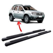 Estribo Renault Duster Oroch Tubular Preto Bepo Kit Fixação