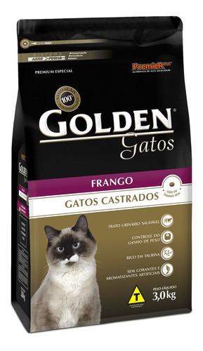 Ração Golden Premium Especial Castrados Para Gato Adulto Sabor Frango Em Saco De 3kg