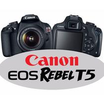 Câmera Canon T5 +18-55mm + Brinde Bolsa E Mini Tripé