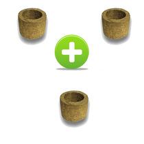3 Vasos Xaxim De Palmeira T1 Para Orquídeas E Samambaias