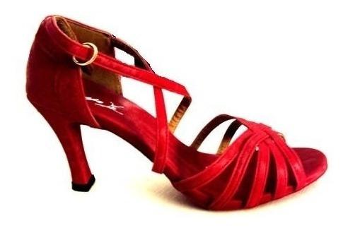 ea9033565ab63 Sandália Para Dança De Salão Feminina Capezio (vermelha)
