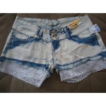 Sawary Shorts Bermuda Com Renda 100%algodão Sabrina Sato