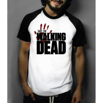Camiseta Raglan Manga Curta The Walking Dead Séries E Filmes