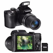 Câmera Samsung Wb100 Preta C/ Lcd 3,0, 16.2mp- Nova
