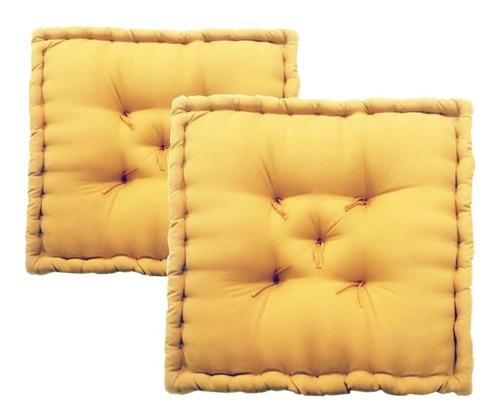 09a9b46fa102c5 Kit 2 Almofadas Futon Turco 60x60x12 Para Sofa De Pallets à venda em ...