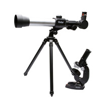 Kit Infantil C/ Telescópio E Microscópio Vivitar Vivtelmic20