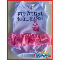 Body Infantil Bebê Bailarina - Pronta Entrega
