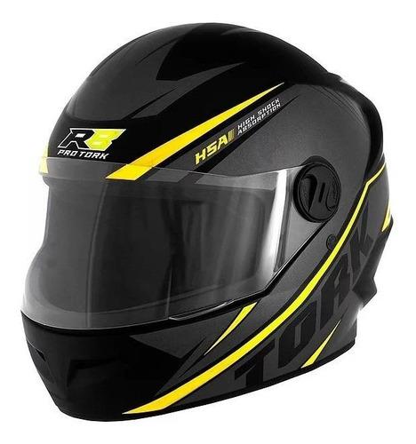 Capacete Para Moto Integral Pro Tork R8 Preto/amarelo Tamanho 58