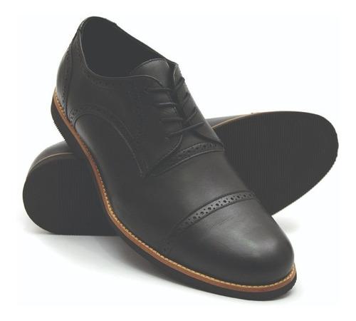 936a51f02 Sapato Masculino Tamanho Especial Oxford Couro Preto 6815/2