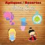 Aplique / Recorte - Alice No País Das Maravilhas Cute