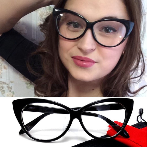 Armação Pin Up Gatinho Cat Eye - Óculos Retrô. R  49 316d769179