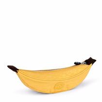 Estojo Escolar Kipling Banana Amarelo Yellow Frete Gratis