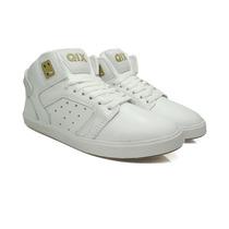 Tênis Skate Qix Jam Iii Branco Com Dourado Original