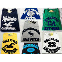 Kit C/ 5 Camisas Masculina Hollister, Abercrombie, Aeroposta