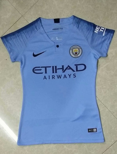 Camisa Manchester City Feminina 2018-2019 Novo Frete Gratis. R  160 3b62c4b5af7d8