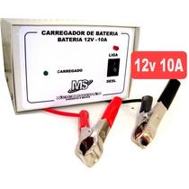 Carregador Bateria 12v 10a Portátil Nacional 60 A 200 Amp Nf
