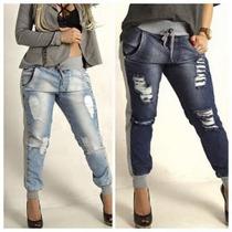 Calças Jeans Com Moleton! Atacado 4 Calças Por 292!