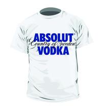 Camisa Camiseta Bebida Absolut Vodka Personalizada
