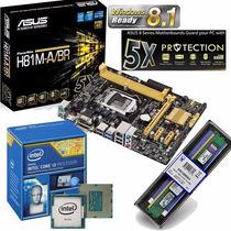 Kit Asus H81m-a/br + Intel I3-4160 3.6 Ghz+ Memoria 4gb 1333