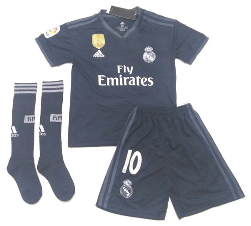 Kit Infantil Real Madrid Away Modric 10 - Pronta Entrega 97db765134513