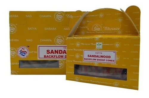 Incenso Nag Champa Satya Sandalwood Cone Cascata 24pc - Full