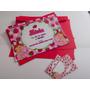 50 Convite Aniversário 10x15 Moranguinho Envelope E Adesivos