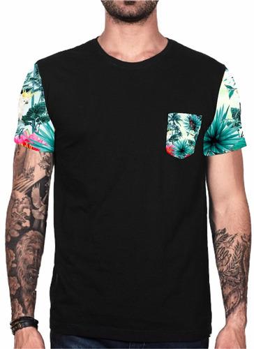 fa41452dfe2d9 Kit 2 Camiseta Florida Blusa Floral Masculina Super Oferta