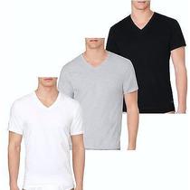 Camiseta Básica Calvin Klein Decote V- Originais - Ver Cores