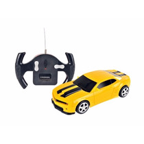 Carro Controle Remoto Chevrolet Camaro Amarelo 1:24 Cks Toys