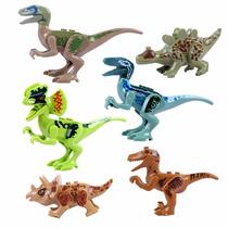 Kit 6 Bonecos Dinossauros Jurassic World - Padrão Lego
