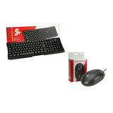 Kit Teclado Usb Office + Mouse Usb Office 1000 Dpi 5+ (nfe)